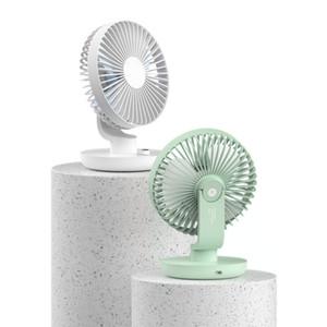 Mini Ballet Estilo desktop Verão Cooling Fan balançando a cabeça Fan Stepless velocidade Ajuste recarregável 3000mAh Battery Outdoor Ventilador