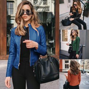 ¡¡¡Venta al por mayor!!! 2020 Nuevo producto caliente chaqueta de cuero de la PU chaqueta de la chaqueta de las mujeres
