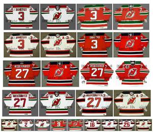 Vintage New Jersey Devils Jersey 3 KEN DANEYKO 27 SCOTT NIEDERMAYER 2 VIACHESLAV FETISOV 9 KIRK MULLER 16 BOBBY HOLIK 25 JASON ARNOTT Hockey
