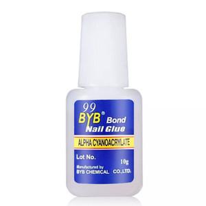Nail art supplies glue nail BYB brush glue 10G blue label glue