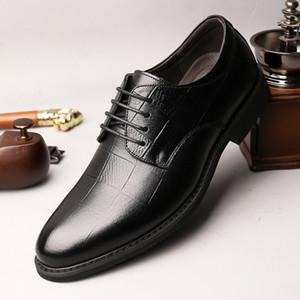 Crystal2019 Adams Jun Hombre especial Invierno Asuntos comerciales Vestido correcto Zapatos de cuero Capa principal Ventilación Zapato masculino Frente Chalaza Individual