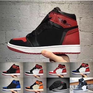 retro jordan air retros 2020 Alta 1 Toe OG 3 Banned Bred Royal Blue Mid Hare donne degli uomini dei pattini di pallacanestro Retroes 1s Rosso Shattered Tabellone Bianco Sneakers