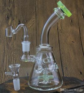 Barato Nuevo EE. UU. Color de vidrio bong pipa de agua Propeller perk bong Aceite de trapo Ciclón giratorio dabs waxwater pipe