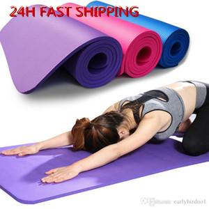 Libero di trasporto 183 * 61 centimetri NBR Yoga Mats Lose Weight Solido Colore antiscivolo ginnastica Sport Salute alta qualità FY6016