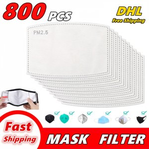 800 PCS PM2.5 Filtro per la maschera anti Haze Bocca Maschere sostituibile Filtro-fetta 5 strati del tessuto non tessuto FILTRO A CARBONI faccia Maschera guarnizione Q01