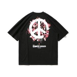 Fashion Men's T-shirt 2020 Summer street popular logo anti-war print casual round neck short sleeve men's loose half sleeve T-shirt 2-Color