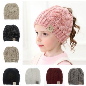 Niños de punto Beanie Hats Baby Soft Winter Warm Chunky Cap Fashion Empty Head Winter Ski Hat Regalos de Navidad TTA1725