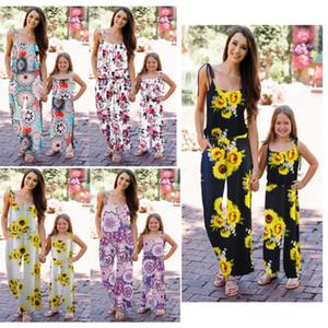 Noël Mère et fille Vêtements Maman me Tenues Matching famille Vêtements filles robe de princesse femmes dames Romper Tenues QZZW127
