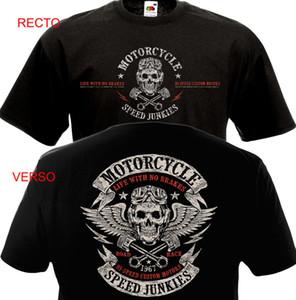 Roupa engraçada Casual manga curta T-shirts T-shirt da motocicleta VELOCIDADE JUNKIES Biker Chopper Motard MC