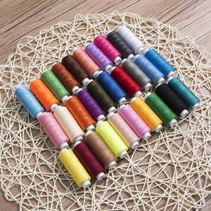 Colori misti fai da te 30 bobine colori misti poliestere ricamo cotone cucito quilting discussione set colorato strumento di produzione artigianale per macchine a mano
