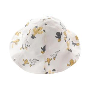 Sombrero del bebé de la primavera y del verano sombrero femenino lindo del pescador de la protección solar del visera del bebé