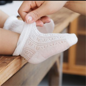 4pairs lot baby socks summer thin solid mesh breathable summer cotton short socks kids soft comfortable high quality