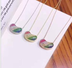 coloré jeunes soja Pure femmes arc-en-argent Collier chaîne de la clavicule