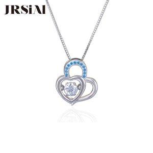 JRSIAL Moda Kalp kolye Aksesuar S925 Gümüş Zirkon Sweet Love Akıllı kolye Kısa Clavicle Zinciri JRP0039