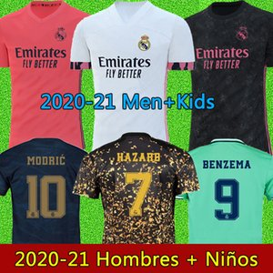 maillots de football real madrid maillots 20 21 HAZARD JOVIC MILITAO camiseta de foot 2020 2021 kids VINICIUS JR ASENSIO maillot de foot enfants MARCELO ISCO kids soccer jersey