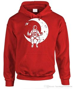 Astronauts 3D Digital Print Mens Hoodies The Moon Autumn Thick Mens Sweatshirts Fashion Hooded Male Clothing