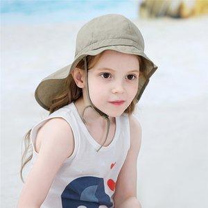 Candy Сплошной лето Детские Hat Дети оборками Bucket Hat Причинно Открытый Мальчики Панама Sun Beach Cap