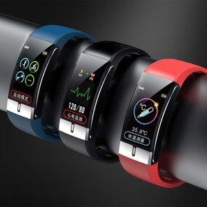 pulseira inteligente para termómetro de medição de temperatura no pulso ECG frequência cardíaca pressão arterial de oxigénio no sangue inteligente hx2020053008 relógio