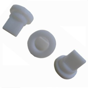 10 Piezas de silicona blanca de la válvula de pico de pato de una vía la válvula de retención 7,45 * 4,2 * 7,2 mm para líquido y gas de reflujo Prevent