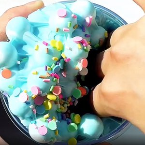 Fruit Puree Slime toy antistress Spongy Rainbow Fluffy Crunchy Foam Beads Kids Anti-stress Toys Slime Relax Gifts Kids Clay Toy