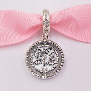 Authentische 925 Sterling Silber Perlen Spinning Pandora Baum des Lebens baumeln Charm Charms Passt europäischen Pandora Style Schmuck Armbänder Neckla