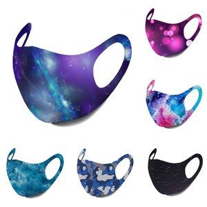 Envío gratuito mascarilla diseñador de la cara negro fashiion adulto máscaras cielo estrellado de la llama camo impresión del oído máscaras máscaras colgantes