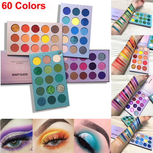 Красота Глазированные палитра теней 60 цветов Тени для век Color Board Makeup Shimmer Блеск Матовый Nude Eyeshadow Palette оригинальный бренд Cosmetic