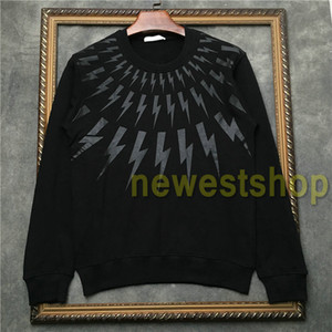 2020 new Fashion Europe mens Collar white black geometry printing sweatshirt Men Clothe Hoodies top quality Designer Sweatshirt top Jumpers