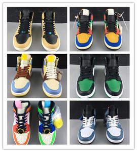Atacado New 1 I OG Mid Destemido WMNS basquete masculino sapatos de grife 1s tênis esportes formadores exteriores de alta qualidade TAMANHO 36-46