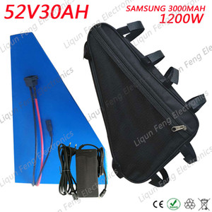 Triangle Style 51.8V 1200W Batería de bicicleta eléctrica 52V 30AH use Samsung cell Eectric Bicycle Battery 52V 30AH Lithium ion Battery.