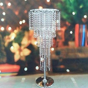 H80cm Tall Crystal Wedding Centerpiece Table Chandelier Flower Stand Wedding Props fast shipping