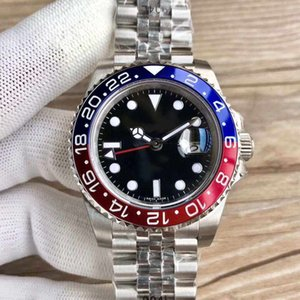 The 2019V3 batman GMT luxury watch with a 40MM ceramic rotating bezel and blue magnifying glass Asia 2836 automatic motion buckle.