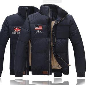 Chaqueta abrigadora de invierno para hombre Chaquetas de polo acolchadas para exteriores Parkas de plumón para hombre Ropa de abrigo Abrigos