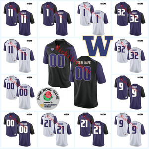 NCAA Washington Huskies personalizada del jersey del fútbol Ben Burr-Kirven Nick Harris Greg Gaines dibujó Muestra Tevis Bartlett Washington Huskies Jersey