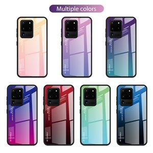Gradienten aus gehärtetem Glas-Kasten für Samsung Galaxy S20 Ultra-S10 Plus-Note 10 A71 A51 A41 A31 5G A21S A11 A01 A30S A20S A10S A70 A50 A20E