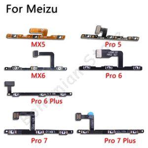 10psc Volume on off Button Power Flex Cable For Meizu MX5 MX6 MX Pro 5 6 7 Plus Mobile Phone Repair Parts