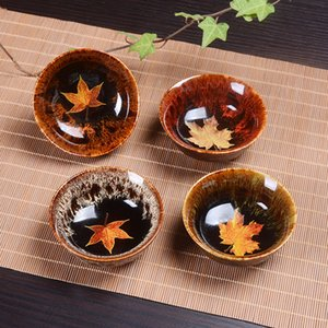 Ceramic Cups Tea Sets New Products Maple Leaf Tea Cups Hand-made Daily Cups Single Cup Bowls
