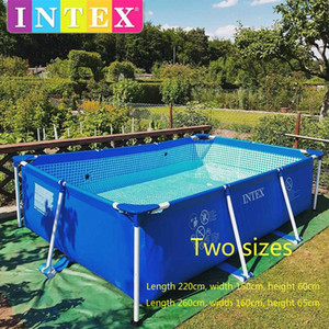 2019 Intex oversized family adult bracket swimming pool home thickened large children inflatable fishing pond swimming pool
