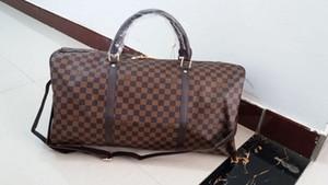 2020 New Fashion Men's and Women's Travel Luggage Bag Leather Luggage Handheld Large Capacity Sports Bag 55CM 90