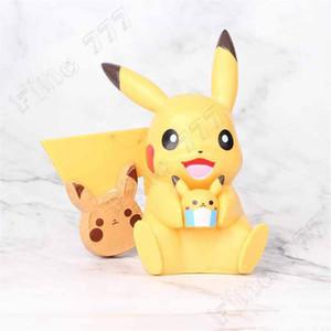 Yeni Stil Bikachu Eylem Şekil Mini Doll Kek süsleme Mikro Peyzaj Model Araba Aksesuarları Cep Canavar Çocuk Oyuncak Embrace Gülümseme 10cm