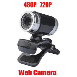 Веб-камера HD веб-камера 360 градусов цифровой видео USB 480P 720P PC Webcam с микрофоном для ноутбука настольный компьютер аксессуар