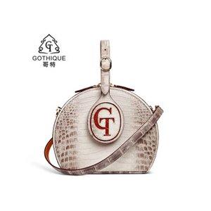 Gete нового импорта кожи крокодила Handmake Круговой ПАКЕТ тенденции моды сумки женщины Одна сумки косого креста