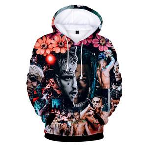 Hiphop Hoodies Lil peep ve XXXTentacion dijital baskı 3D uzun kollu kapşonlu kazak Erkek Tasarımcı Hoodies Rahat Kazak Hoodies