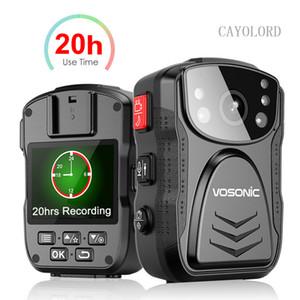 20hrs는 오랜 시간 경찰 카메라 HD 1296P 몸 캠 경비원 IP67 방수 미니 Comcorders 나이트 비전 DVR 레코더 기록