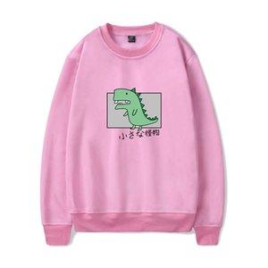 WAMNI Streetwear Dinosaur Crewneck capuz Outono Treino Casual Quente Pullovers High Street Kawaii Casacos com capuz
