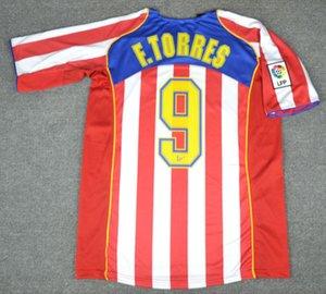 04 Jersey 2 Gaza RETRO Fútbol Simeone F.Torres 2004 kits de la camisa 2005 del fútbol de Madrid 05 Madrid hombre araña