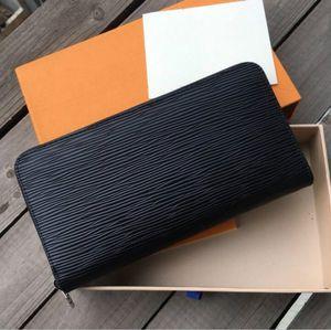 مصمم للجنسين الأعمال محافظ النساء الفاخرة حقيبة يد رجل الرسمية المحفظة أزياء كلاسيكية أسود محفظة عالية الجودة عادي محفظة # 3