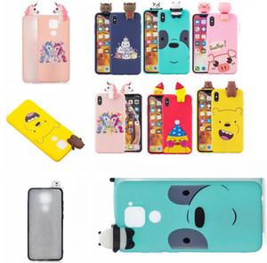 Caso de la historieta 3D para Huawei P inteligente 2020 Disfrute 9S honor 9A Xiaomi redmi NOTA 9 9S 10 LITE linda Teléfono TPU cubierta del unicornio Panda