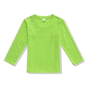Palabras blanco de manga larga puro algodón cuello redondo Publicidad ropa superior sin forro de la mano camiseta Fondo niños Cultura blusas escritas