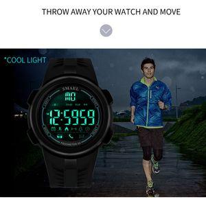 2020 Smael or hommes de luxe LED Sport d'affichage électronique Horloge Homme Horloges Réveil Chronographe fanshion Hombre montre homme 1703